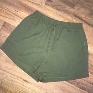 TCEC olive shorts